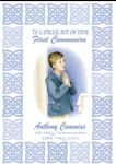 Personalised Boy Communion Card Celtic Border